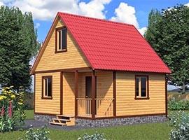 Дом из бруса 6х6 Белояр