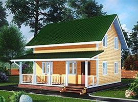 Дом из бруса 6х8 Дорофей