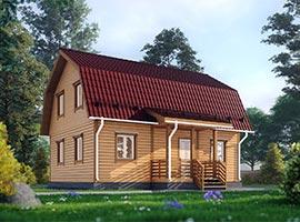 Дом из бруса Салтан
