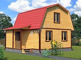 Дом из бруса 6х7.5 Светогор