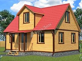 Каркасный дом 7.5х9 Драгомир