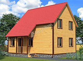 Каркасный дом 7.5х8 Дунай