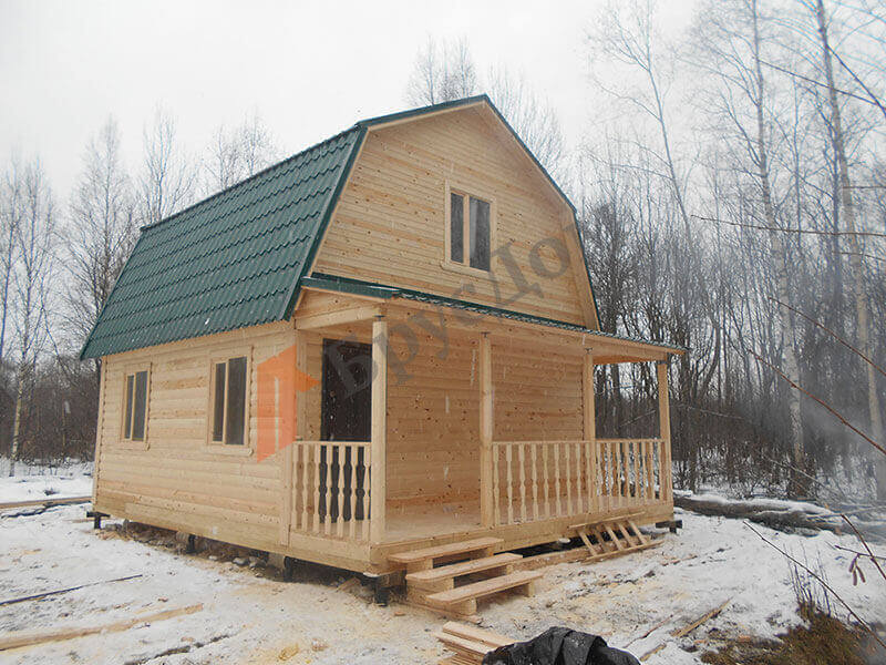 Строительство дома пос. им. Морозова, Ленинградская область