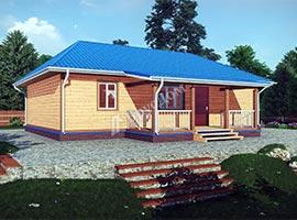 Дом из бруса 10.5х12 Родион