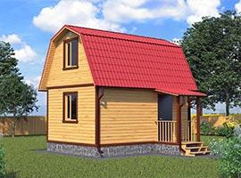 Каркасный дом 4х6 Мануил