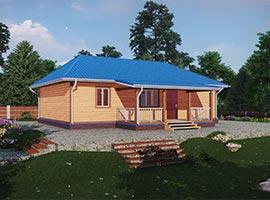 Дом из бруса 8х12 Родион