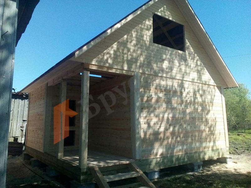 Дом из бруса 6х6 м, без отделки, проект Белояр