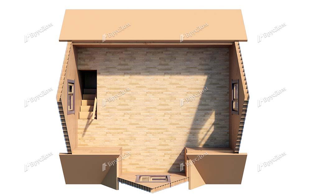 Дом из бруса 6х6 Светояр