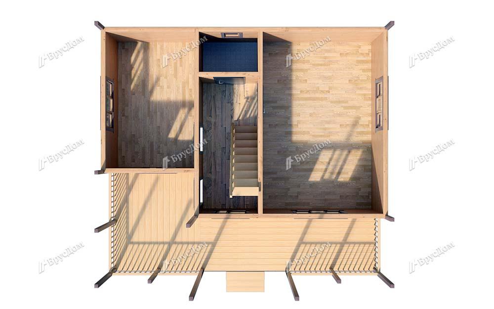 Дом из бруса 8х9 Гостимир