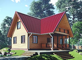 Дом из бруса 9х12 Герман