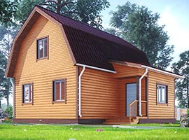 Дом из бруса 8х8 Митрофан