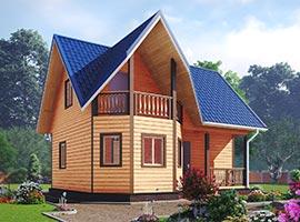 Дом из бруса 7х8 Радислав