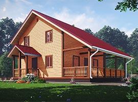 Дом из бруса 7.5х10.5 Корнил