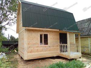 Дом из бруса 5,5х6 Агафон, в Ленинградской области, СНТ Клен