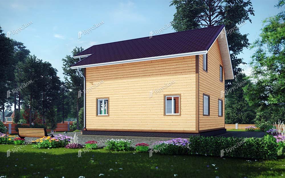 Дом из бруса 8х10 Руслан
