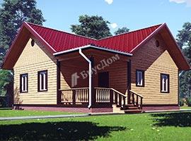 Каркасный дом 9х9 Искандер