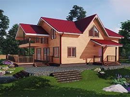 Дом из бруса 12х12 Людвиг