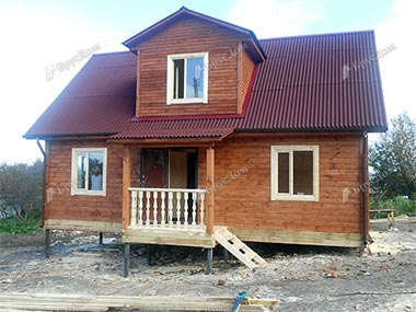 Дом из бруса 7.5х9 Мирон, Московская область, Чеховский р-он
