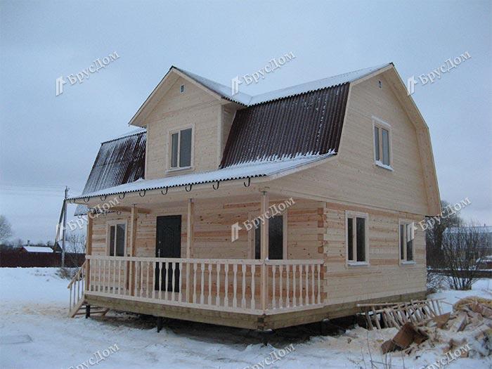 Дом из бруса 8х9 Евдоким, Ленинградская область, Гатчинский р-он