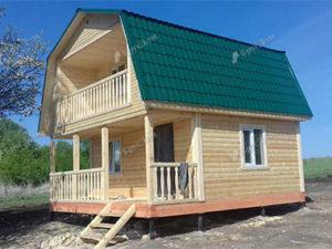 Дом из бруса 6х6 Любодар, Рязанская область, д. Мшанка