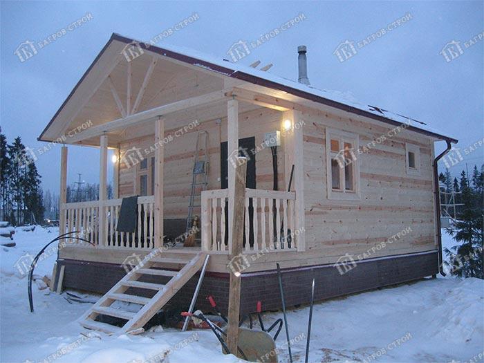 Дом из бруса 6х7.5 Валент, Ленинградская область, Всеволожский р-он