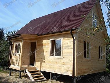 Дом из бруса 6х8 Ермак, Ленинградская область, Тосненский р-он
