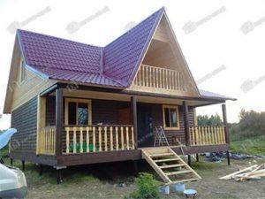 Дом из бруса 8х9 Игнат, Тверская область, Калининский р-он