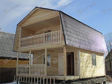 Дом из бруса 6х6 Любодар, Московская область, Чеховский р-он