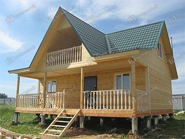 Дом из бруса 8х9 Игнат, Вологодская область, пос. Золотавино