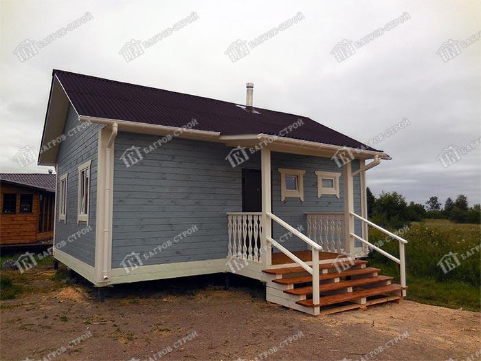 Дом из бруса 6х8 Самуил, Карелия, ост. Лункулансаари