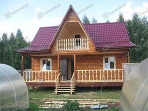 Дом из бруса 8х9 Игнат, Московская область, пос. Шатурторф