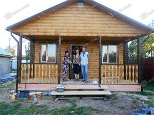Дом из бруса 6х7.5 Валент, дер. Левошево Шатурского района Московской области
