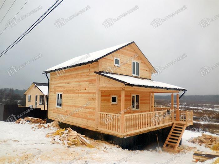 Дом из бруса 7х7 Арсений, Московская область, Солнечногорский район