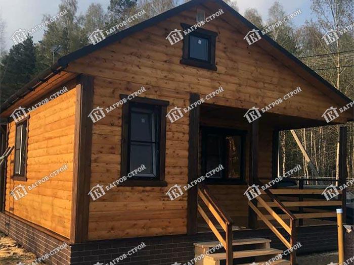 Дом из бруса 5х6м Адриан, Тверская область, Конаковский район, СНТ Березка