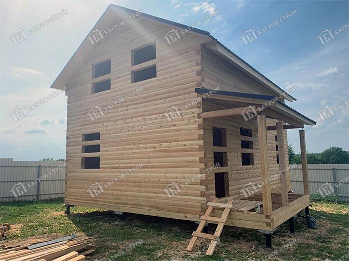 Дом из бруса 6х8 Дорофей, Московская область, Сергиево-Посадский район, д. Алферьево