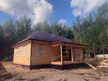 Дом из бруса 8х12 Родион, Псковская обл., Гдовский р-н, с. Ямм
