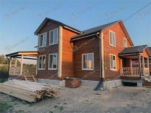 Дом из бруса 10х11м Петр, Брянская область, Брянский район, с. Толмачево