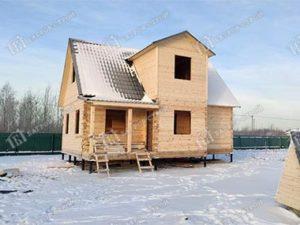 Дом из бруса 7.5х9 Садко, Ленинградская обл., Шлиссельбургский р-н, массив «Восход»