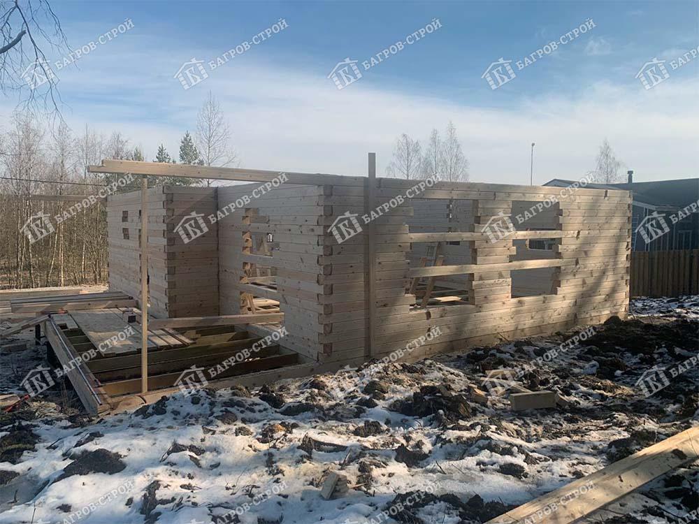 Дом из бруса 9.9х10.9 Корнил, Ленинградская обл, Выборгский р-н