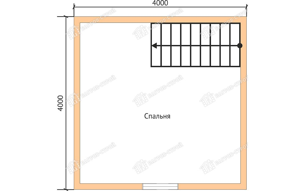 Каркасный дом 4х6 Кир