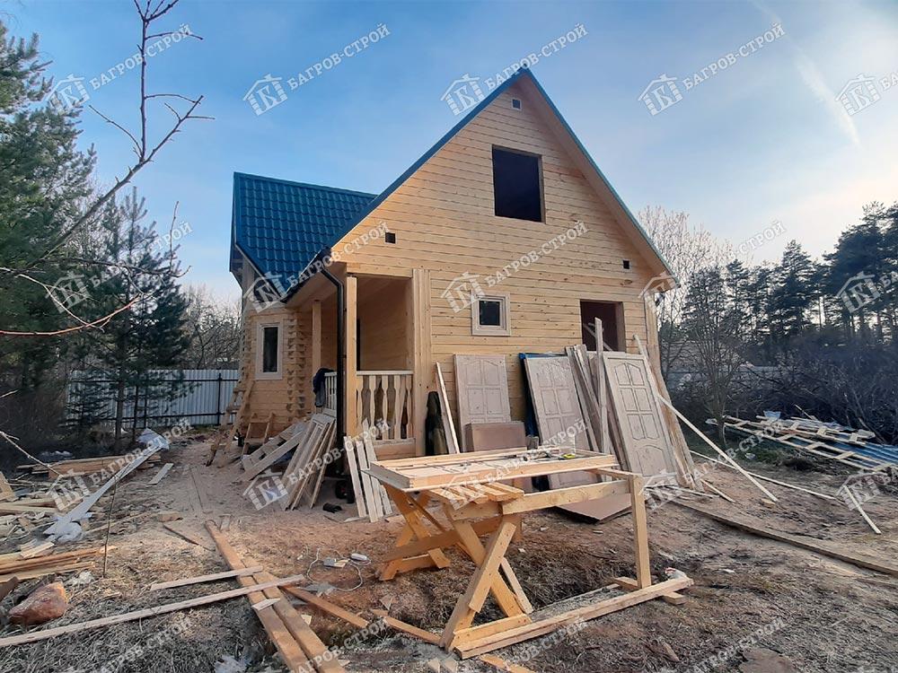 Дом из бруса 7х8 Радислав, Ленинградская обл., Гатчинский р-н, пгт Вырица