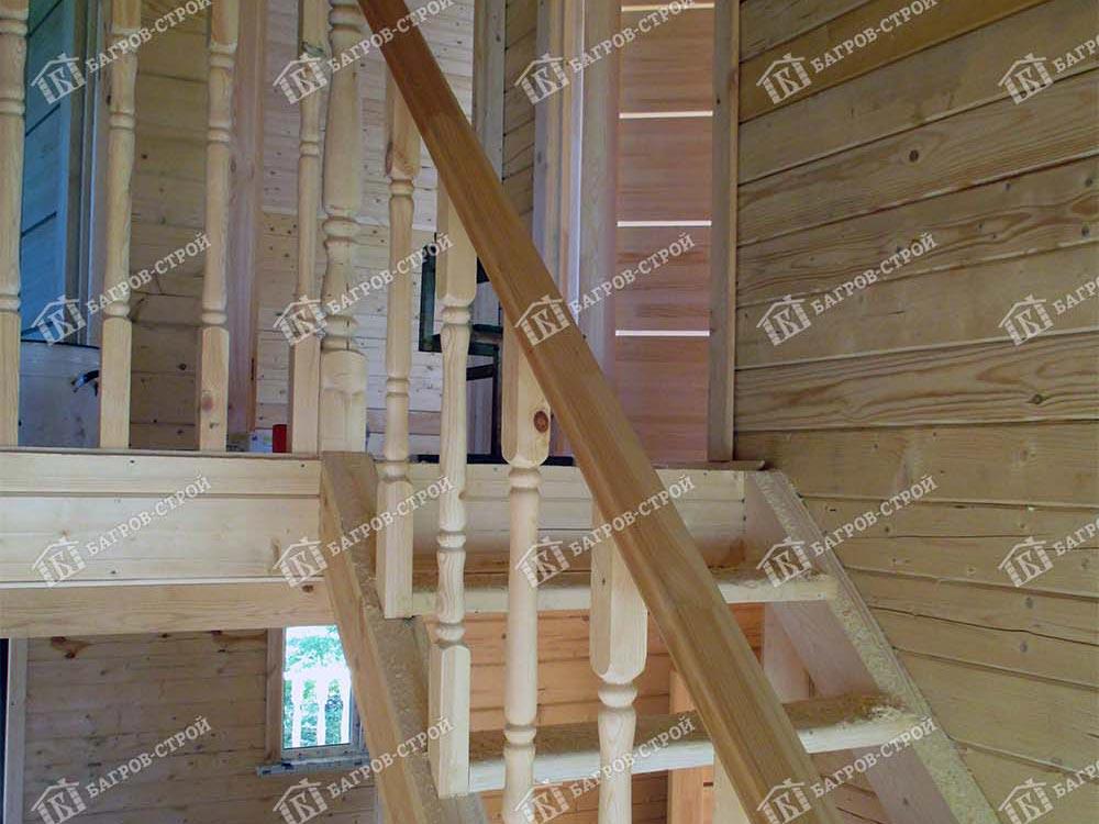 Дом из бруса 7.5х10.5 Корнил, Ленинградская обл., Кировский р-н