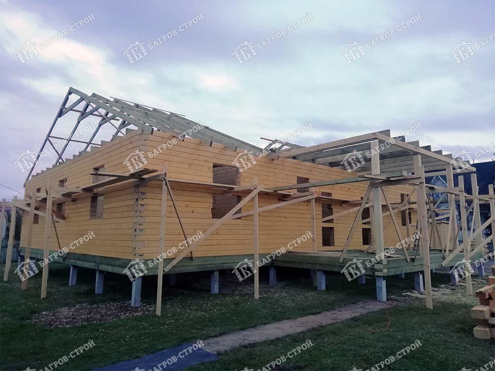 Дом из бруса 12х16 Август, Ленинградская обл, Гатчинский р-он
