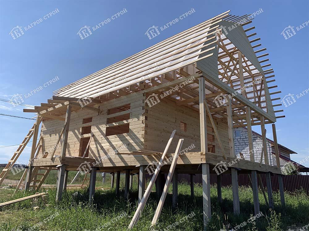 Дом из бруса 8х9 Митрофан, Новгородская обл., Новгородский р-он