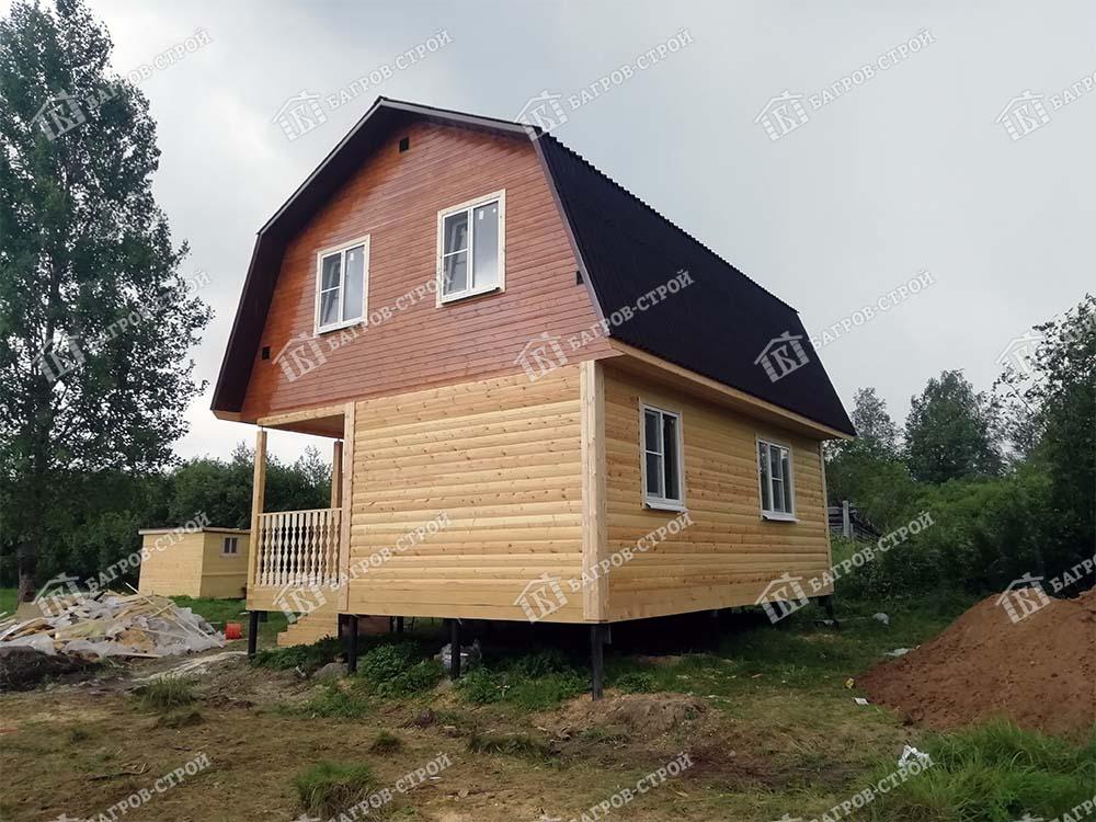 Дом из бруса 6х8 Митрофан, Ленинградская обл., Лужский р-он