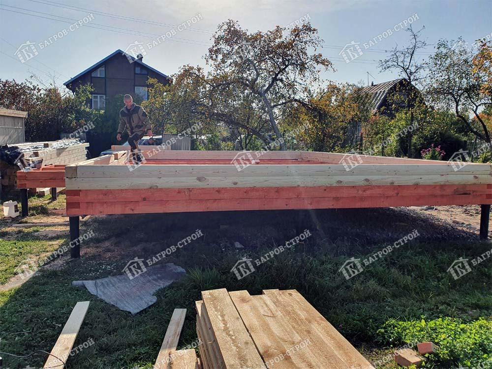 Дом из бруса 6х8 Ермак, Ленинградская обл., Тосненский район