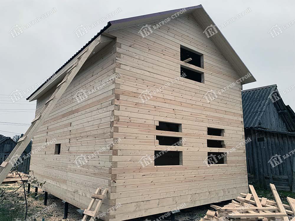 Дом из бруса 6х8 Елисей, Республика Карелия, Пряжинский район