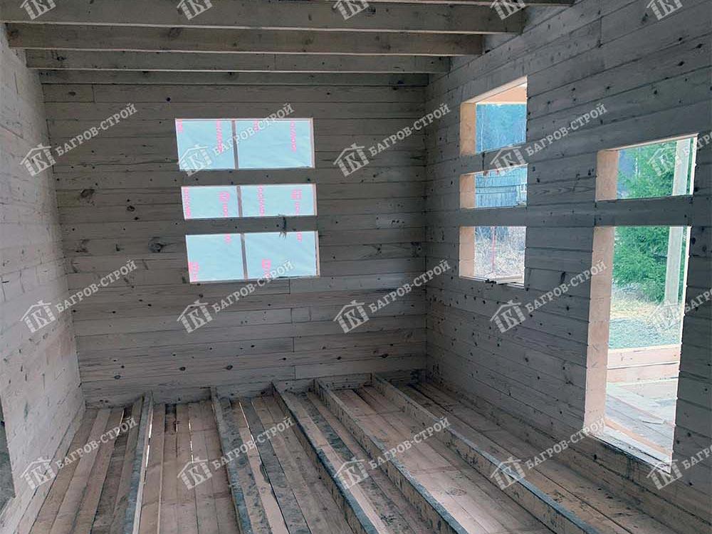 Дом из бруса 7.5х10.5 Корнил, республика Карелия, Лахденпохский район