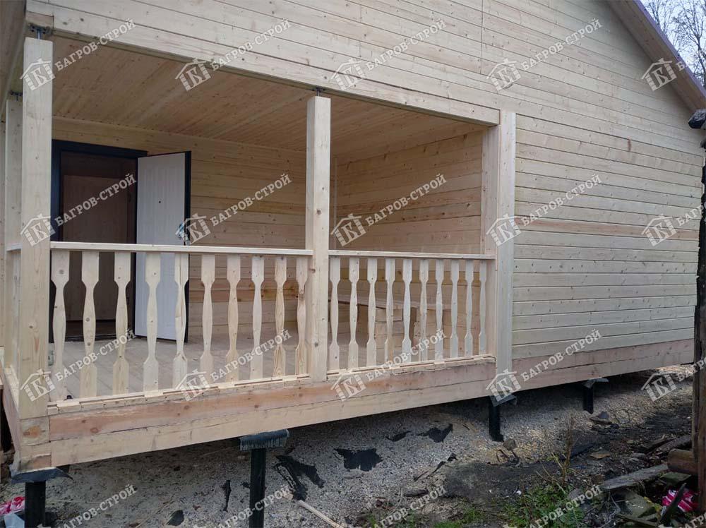 Дом из бруса 8х11 Вассиан, Ленинградская обл., Лужский р-он