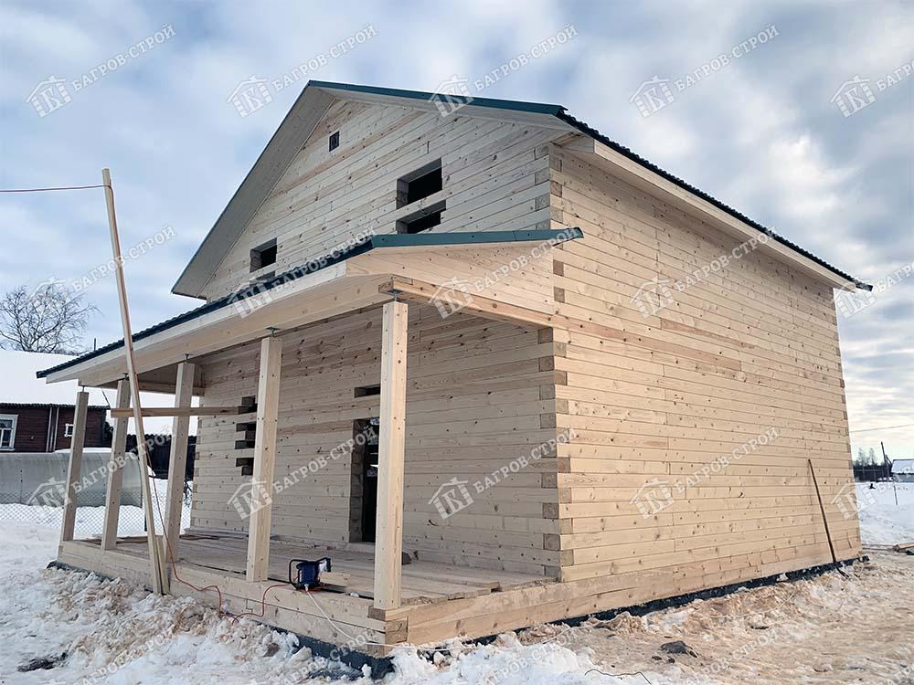Дом из бруса 8х13 Роман, Вологодская область, Вытегорский р-он